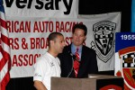 AAWRBA breakfast: Pole winner Tony Kanaan with Todd Harris
