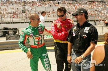 Tony Kanaan, Bryan Herta and Michael Andretti