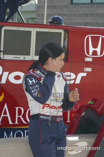 Danica Patrick readies to practice