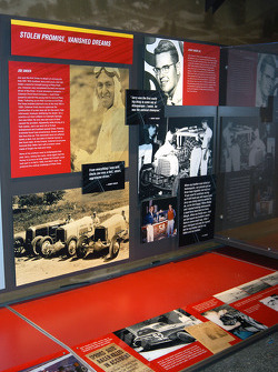 Display honoring Joe and Jerry Unser, Jr., both killed racing