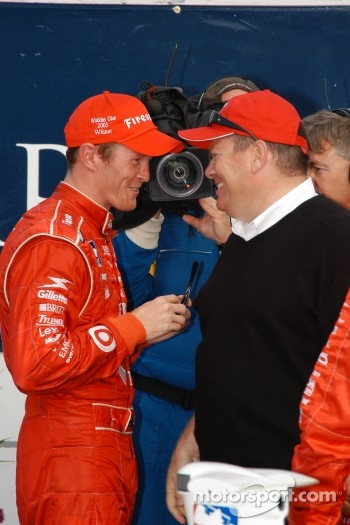 Scott Dixon and Chip Ganassi were happy