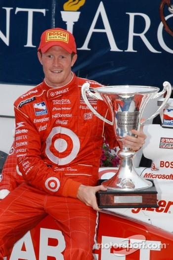 Scott Dixon enjoys the moment