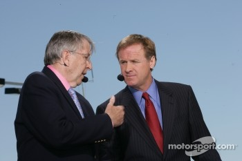 Brent Musburger and Rusty Wallace