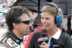 Michael Andretti and Jamie Little