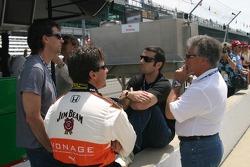 Michael Andretti, Bryan Herta, Dario Franchitti and Mario Andretti