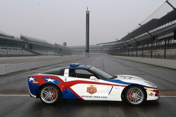 The 2006 Chevrolet Corvette Z06 Pace Car, to be driven on race day by seven-time Tour de France winner Lance Armstrong