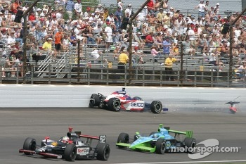 Al Unser Jr. in the wall