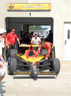 Post-race technical inspection for Bryan Herta