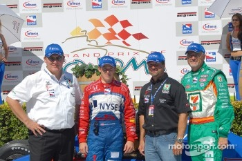 Kevin Savoree, Marco Andretti, Michael Andretti and Kim Green