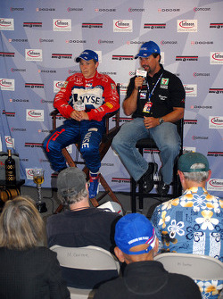 First winner's press conference with Marco and Michael Andretti