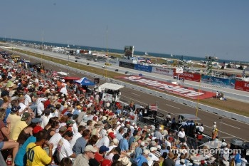 Fans watch race action
