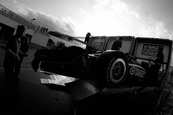 Target Chip Ganassi Racing crew members pack the material back in their transporters