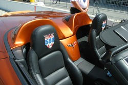 Detailed interior of the 2007 Corvette Pace Car
