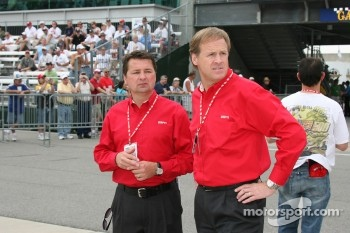 Scott Goodyear and Rusty Wallace