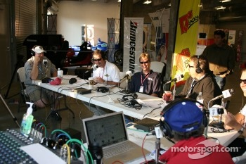 Bob and Tom show live at the Indianapolis Motor Speedway with Davey Hamilton as a guest