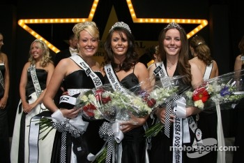 The Official 500 Festival Queen, middle, with the two runners up