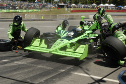 Scott Sharp pit stop tires off