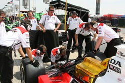 Team Penske crew members at work
