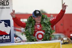 Winners circle: Scott Dixon celebrates