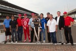 Pole winner Alex Tagliani, Sam Schmidt Motorsports celebrates with past pole winners Pancho Carter, Roberto Guerrero, Al Unser Jr., Scott Dixon, A.J. Foyt, Bruno Junqueira, Rick Mears, Mario Andretti, Johnny Rutherford and Helio Castroneves