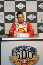 Helio Castroneves, Team Penske during a press conference