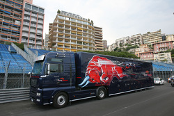 Toro Rosso Truck lorry on the circuit