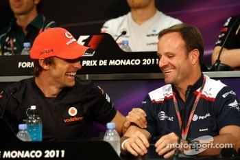 Jenson Button, McLaren Mercedes, Rubens Barrichello, AT&T Williams