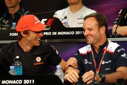 Jenson Button, McLaren Mercedes, Rubens Barrichello, AT&T Williams