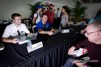 James Hinchcliffe, Newman / Haas Racing and Oriol Servia, Newman / Haas Racing