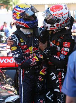 Mark Webber, Red Bull Racing and Jenson Button, McLaren Mercedes