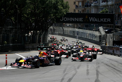 Start of the race, Sebastian Vettel, Red Bull Racing