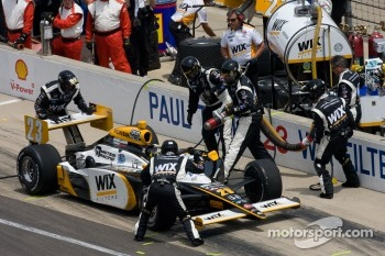 Pit stop for Paul Tracy, Dreyer & Reinbold Racing