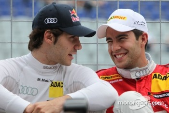 Miguel Molina, Audi Sport Team Team Abt Junior, Audi A4 DTM and Mike Rockenfeller, Audi Sport Team Abt Sportsline Audi A4 DTM