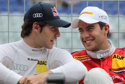 Miguel Molina, Audi Sport Team Team Abt Junior, Audi A4 DTM and Mike Rockenfeller, Audi Sport Team Abt Sportsline Audi A4 DTM