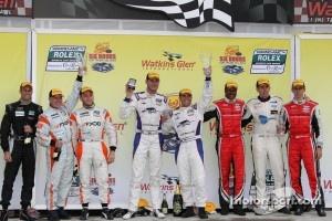 Victory lane: GT Winners Podium