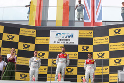 Ralf Schumacher, Team HWA AMG Mercedes C-Klasse, Martin Tomczyk, Audi Sport Team Phoenix Audi A4 DTM, Oliver Jarvis, Audi Sport Team Abt Audi A4 DTM