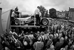 #2 Audi Sport Team Joest Audi R18 TDI is unloaded