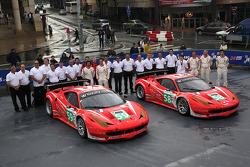 #59 Luxury Racing Ferrari 458 Italia: Stéphane Ortelli, Frédéric Makowiecki, Jaime Melo, #58 Luxury Racing Ferrari 458 Italia: Anthony Beltoise, Francois Jakubowski, Pierre Thiriet