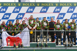 LM P2 podium: class winners Karim Ojjeh, Tom Kimber-Smith and Olivier Lombard, second place Franck Mailleux, Lucas Ordonez and Soheil Ayari, third place Scott Tucker, Christophe Bouchut and Joao Barbosa