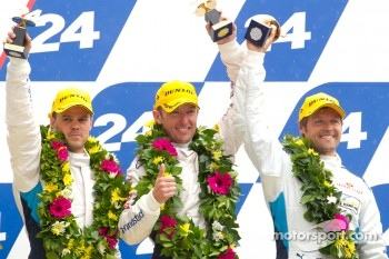 LM GTE Pro podium: third place Andy Priaulx, Dirk Muller, Joey Hand