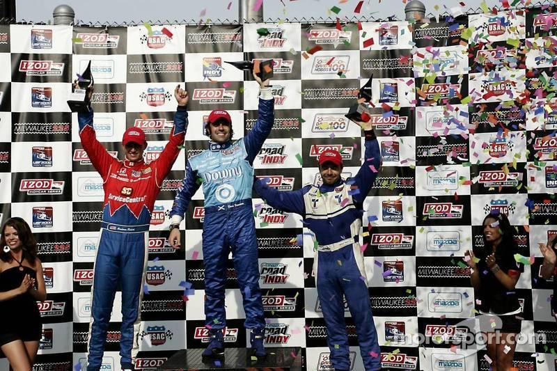 Graham Rahal, Service Central Chip Ganassi Racing and Dario Franchitti, Target Chip Ganassi Racing and Oriol Servia, Newman/Haas Racing