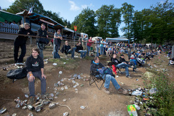 Fans at Brünnchen on Sunday morning