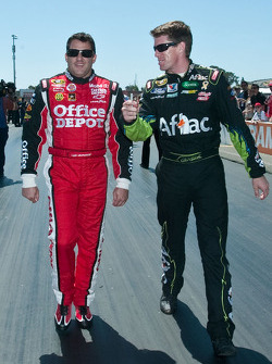 Tony Stewart and Carl Edwards