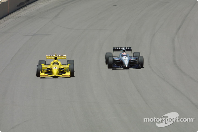 Sam Hornish Jr. and Eddie Cheever