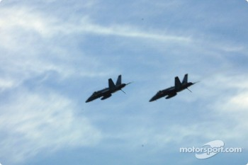 Before the race: fly-over