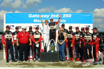 Al Unser Jr. celebrating with Team Galles Racing