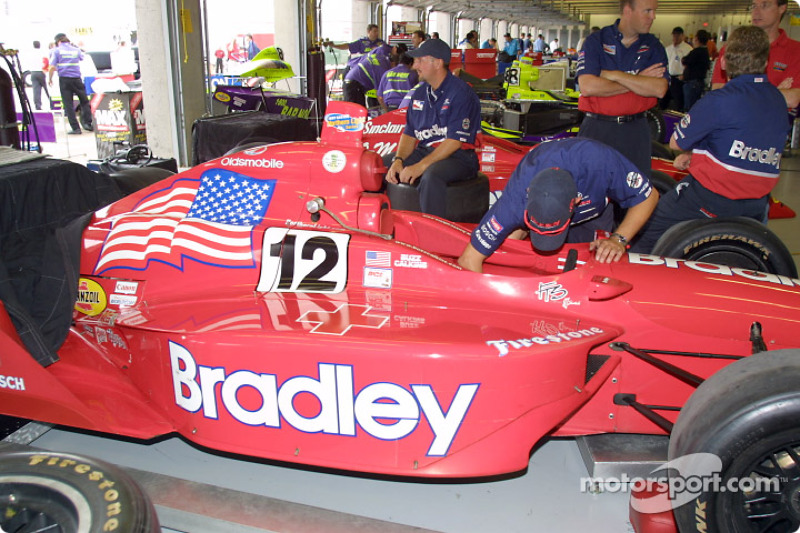 Stars and stripe on Buzz Calkins' car