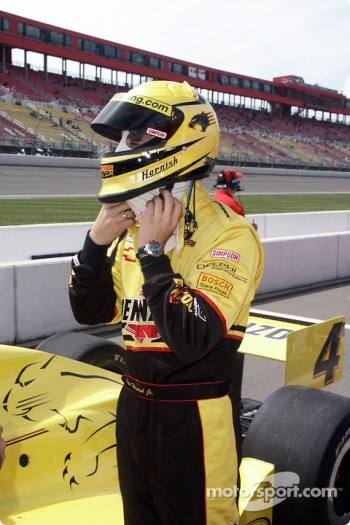 Sam Hornish Jr. saddles up