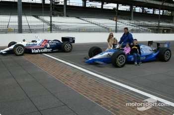 Al Unser Jr. and Scott Goodyear who were involved in the closest finish ever at the Indy 500 in 1996