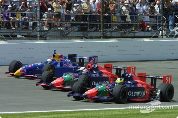 Felipe Giaffone, Tony Kanaan and Eddie Cheever